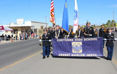 The Cheyenne High School JROTC Cadets Join the Moapa Valley Celebration of Veteran's Day!!!