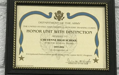 "Cheyenne's JROTC Program Maintains the ""Honor Unit with Distinction"" Ranking!!!"
