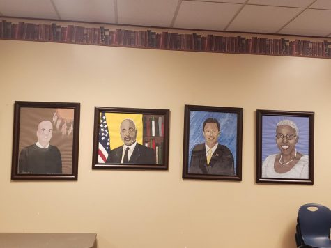 Student Artists Commemorate Past Cheyenne High School Principals!!!